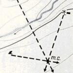 Определение местоположения обратной засечкой