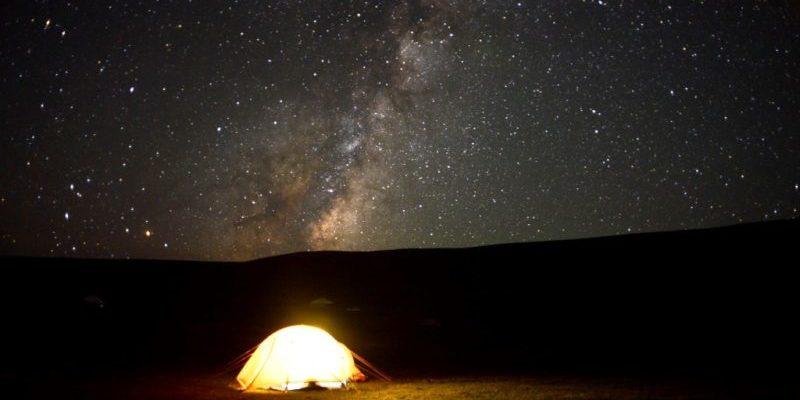 Ночевка в палатке