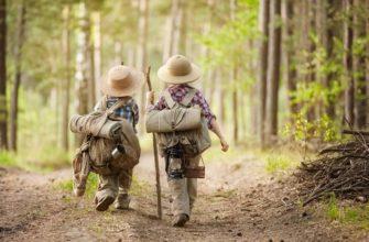 Ребенок в походе