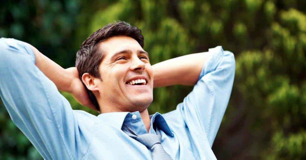 Счастливый мужчина
