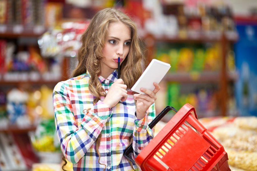 Пойти в магазин со списком