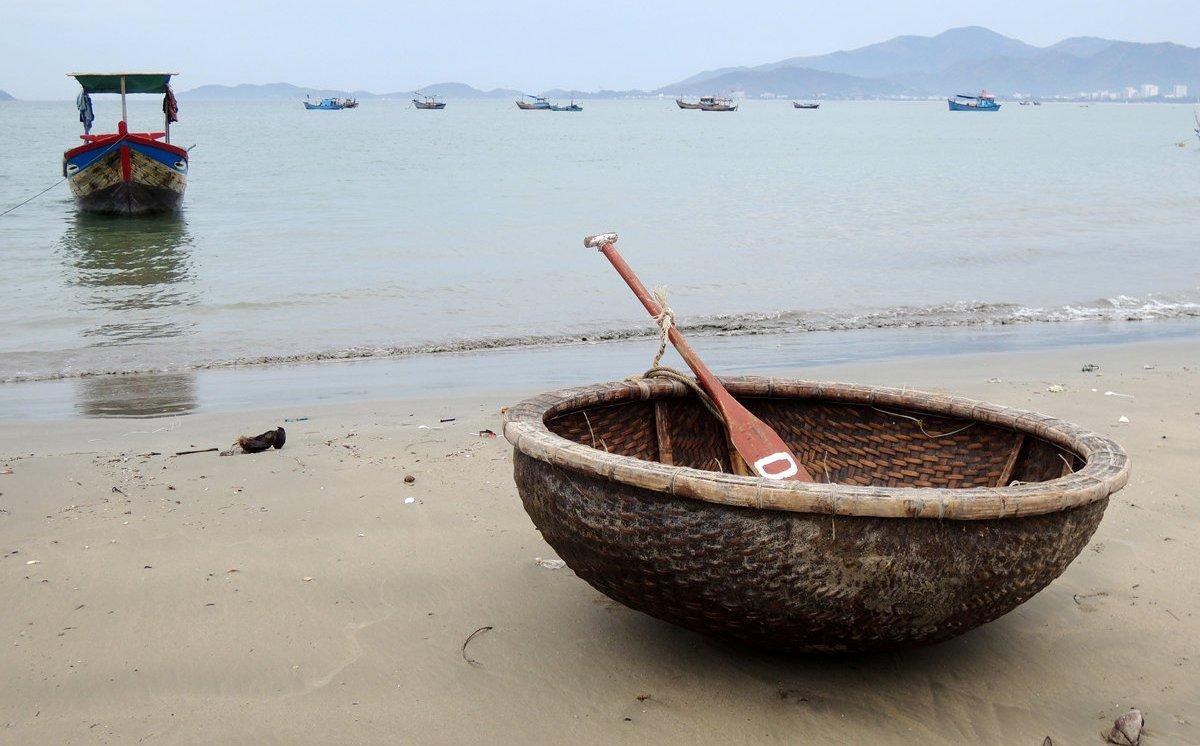 Круглые лодки во Вьетнаме