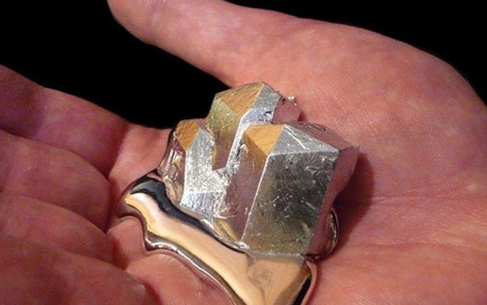 Галлий металл тающий в руках