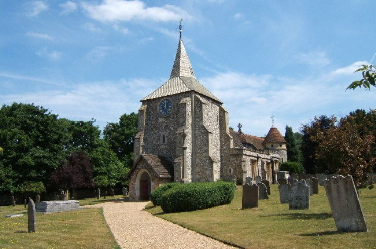 Английское графство Суррей кладбище