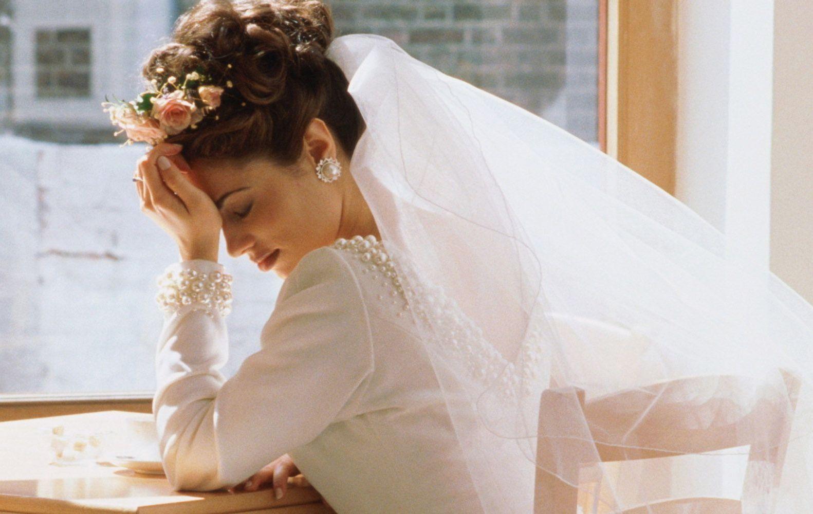 Грустная невеста