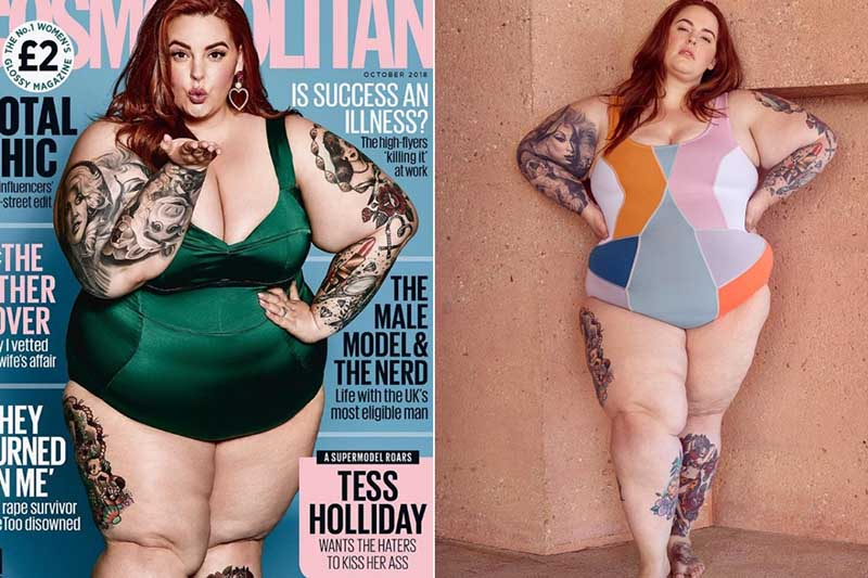 Американская супермодель размера плюс сайз, популярный блогер и визажист Тесс Холидей
