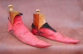 Обувь с длинным носом