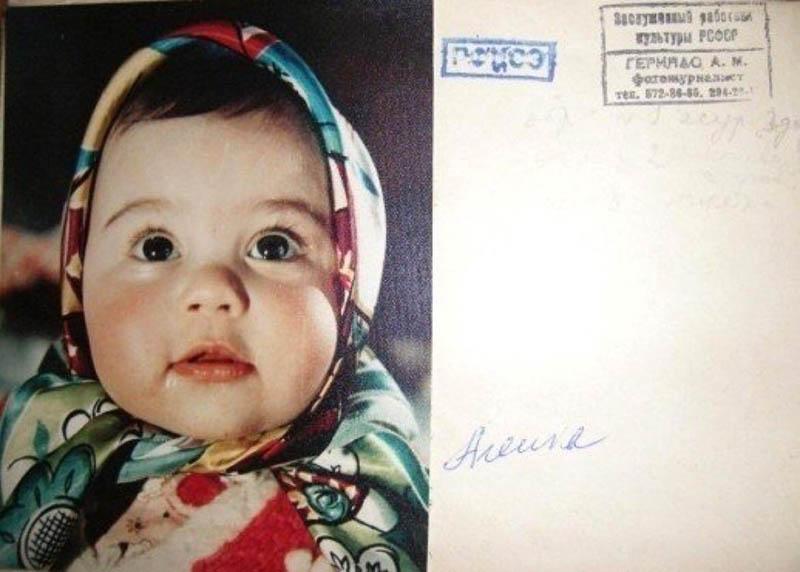 Леночка Геринас — дочь художника Александра Геринаса попала на обертку знаменитой шоколадки