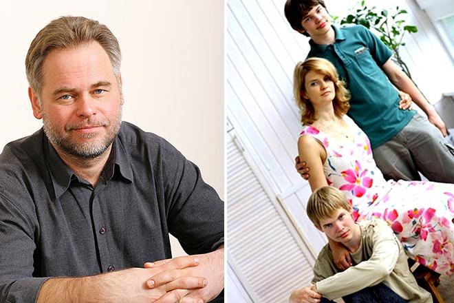 Евгений Касперский с семьей