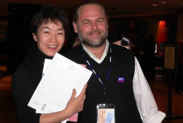Евгений Касперский с женой китаянкой