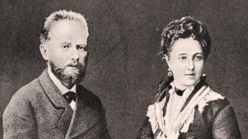 Чайковский с женой