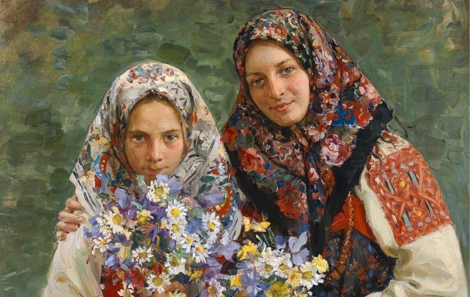 Женщины в платке