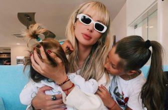 Певица Лобода с детьми