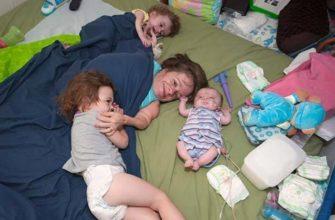 Стейси Геральд с детьми
