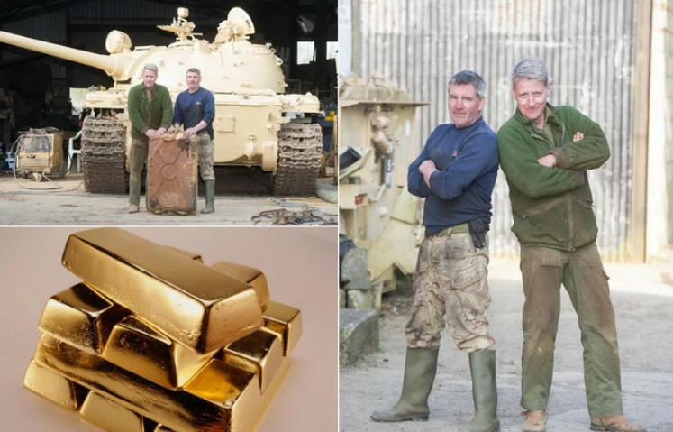 Золото в аукционном танке