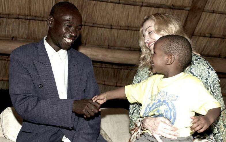 Дэвид с Мадонной и отцом