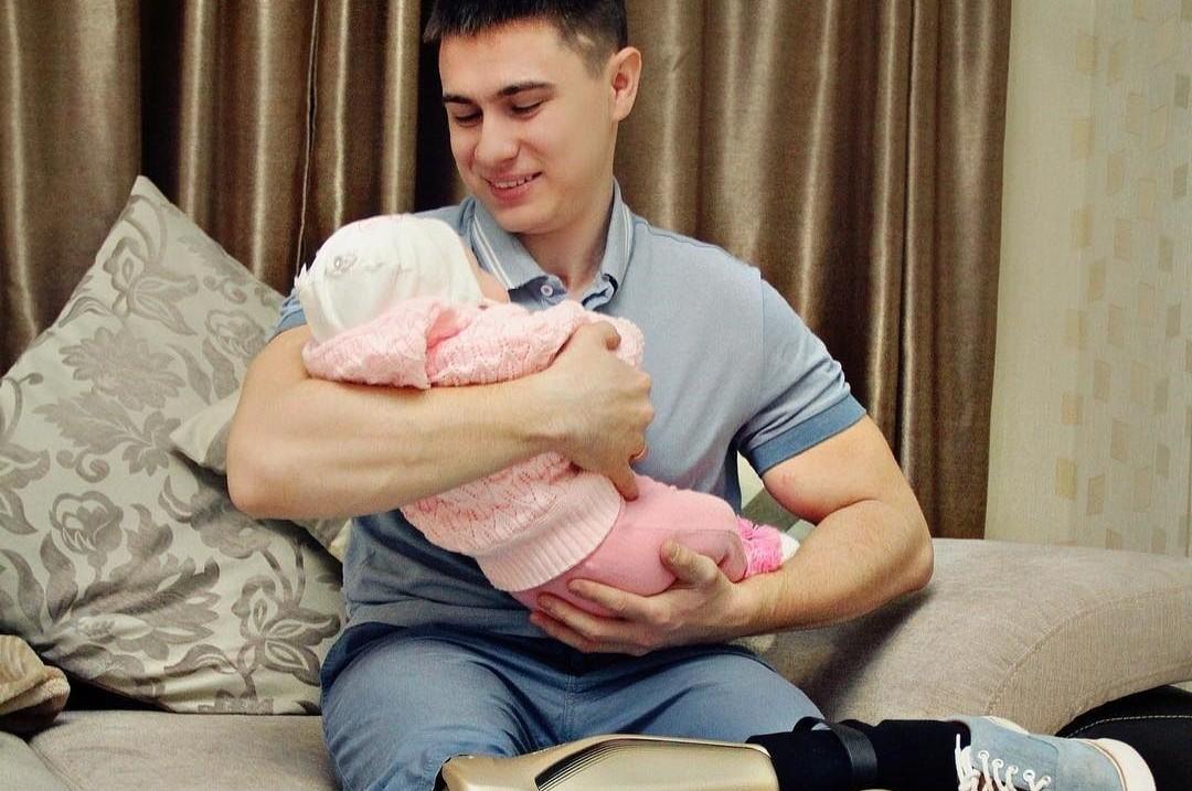 Рустам Набиев с дочкой