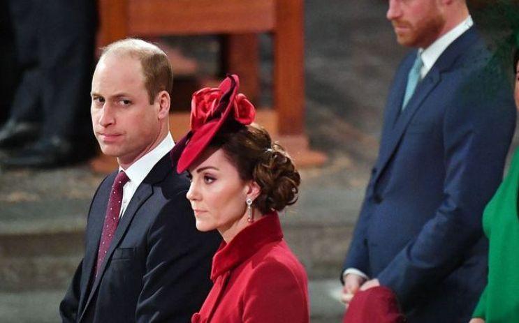 Принц Уильям с женой