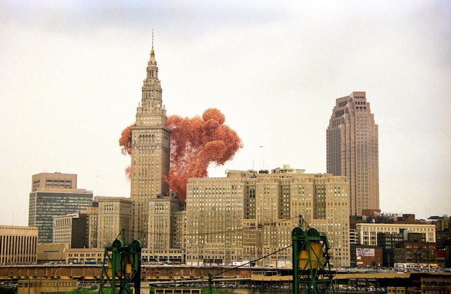 Воздушные шары в городе
