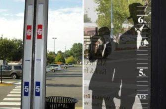 Линейка перед входом в магазин