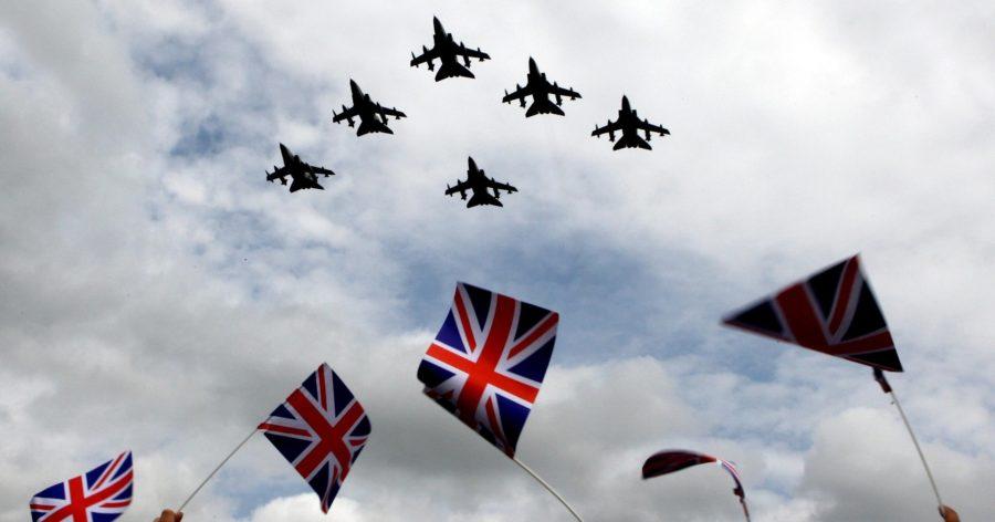 Парад воздушных войск в в Великобритании