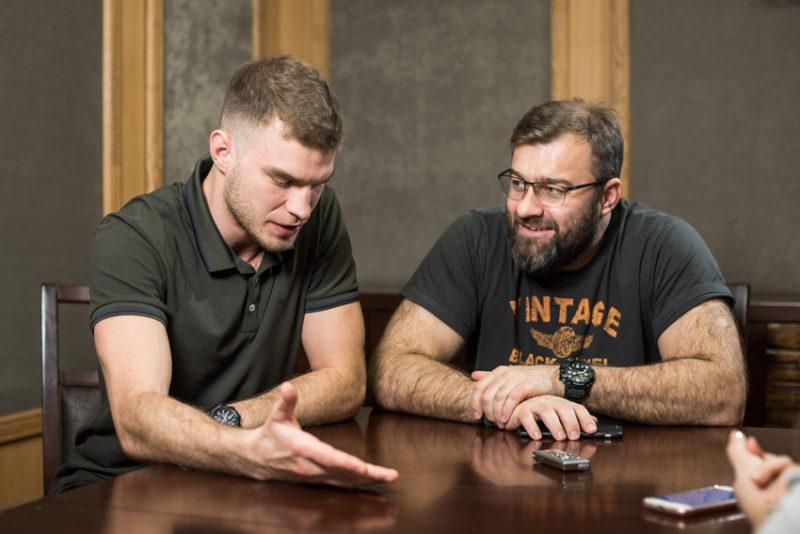 Михаил Пореченков и сын Владимир
