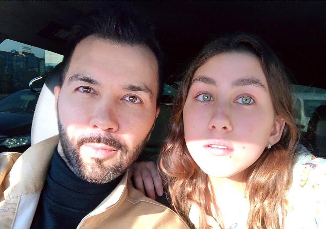 Денис Клявер и дочь Эвелин