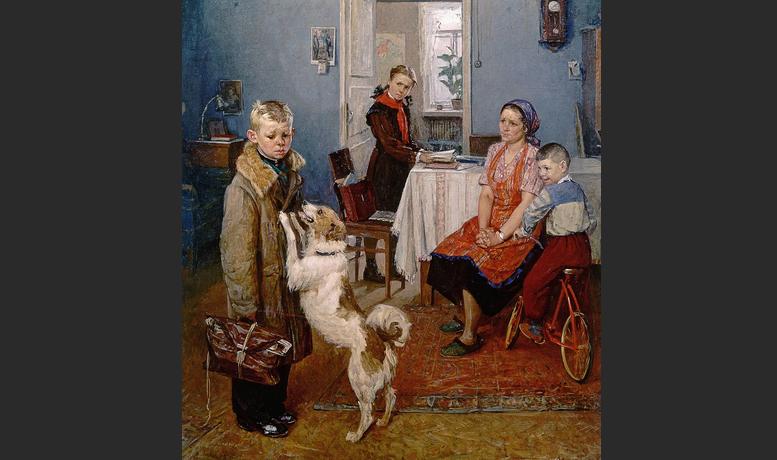 Опять двойка картина Решетникова