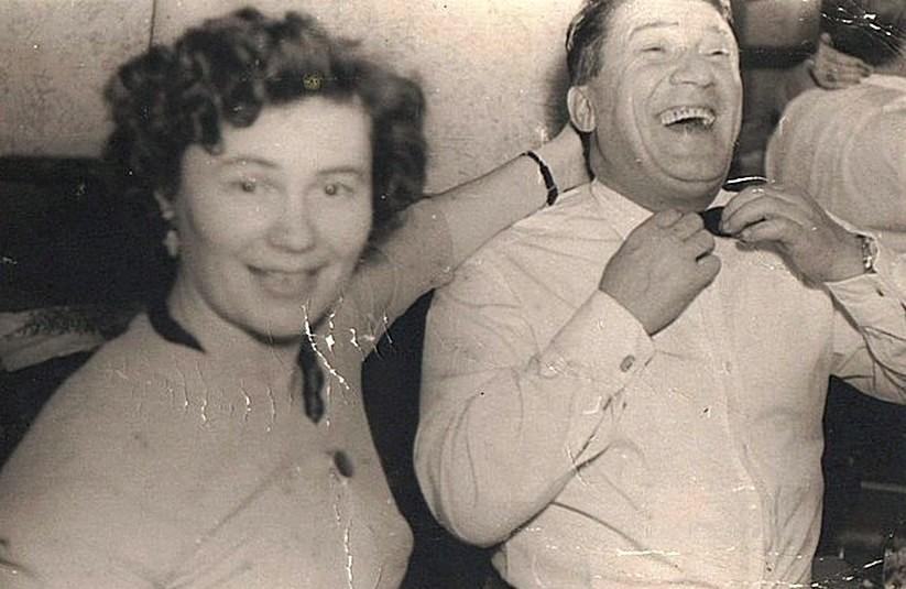 Николай Крючков и его жена Зоя