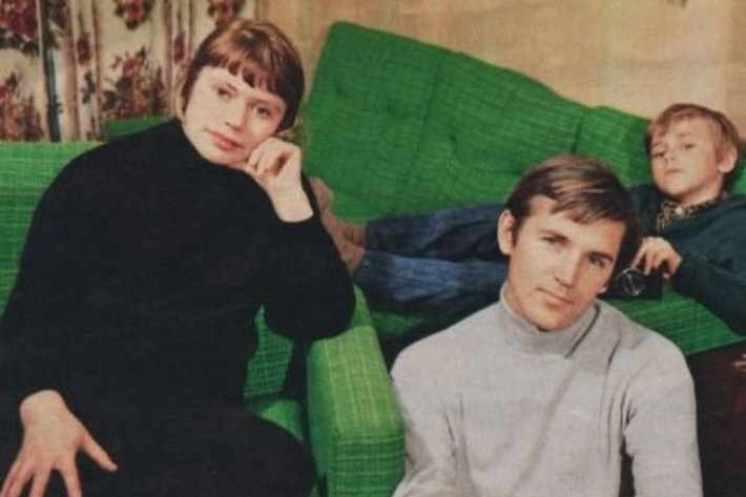 Станислав Любшин с первой женой