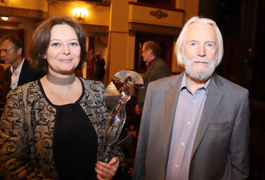 Станислав Любшин со второй женой