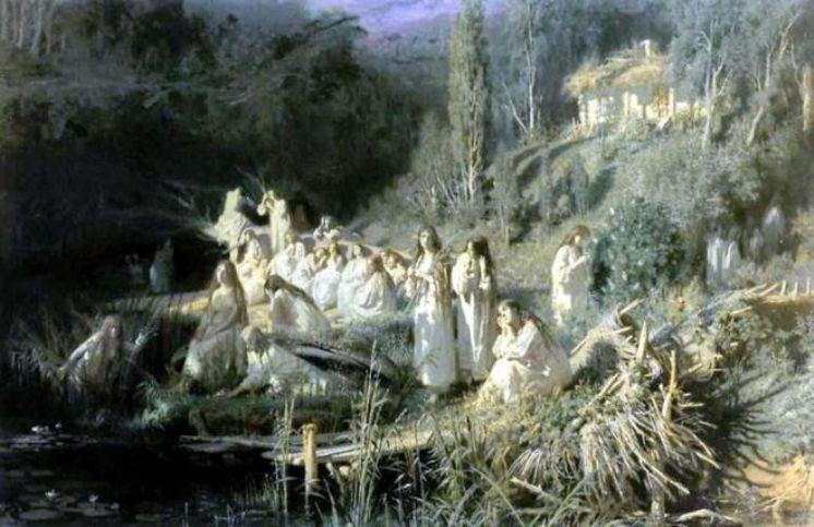 Картина Ивана Крамского «Русалки»