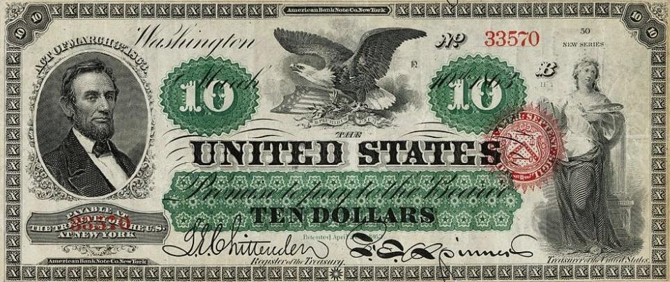 10 долларовая купюра