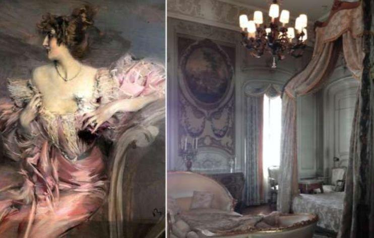 Картина в квартире в Париже