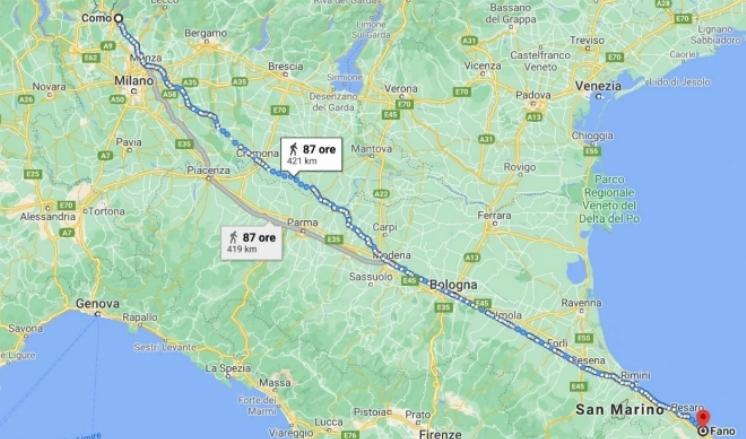 Расстояние на карте